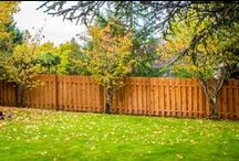 Cedar Fencing / Rick's Fencing uses Port Orford cedar to build our solid style fencing. This style has minimal gaps between the boards and provides security for children and pets.