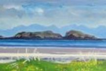 My Paintings / Acrylic, landscape, the Hebrides, Scotland, sheep
