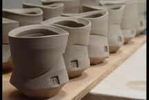 Ceramics / Pottery unfired / unfired pottery, greenware, just off the wheel, half way there
