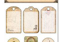 ✿Fonts, labels & tags ✿ Printables