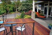 Hardwood / TigerWood decking is one of the finest hardwood decking available. This highly durable wood features light golden-brown to orange, reddish-brown coloring with black and brown streaks—hence the name TigerWood. These gorgeous hues give the wood an exotic, distinguished look—making TigerWood one of the decking materials of choice among designers and homeowners alike.