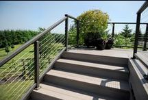 Handrail / A handrail is like the frame to the picture. There are so many beautiful options to compliment a deck or patio!