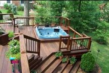 Hot Tub & Pool Ideas / Pool and Hot Tub ideas that include decking