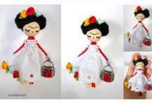 Doll brooch/ Broches de muñeca II