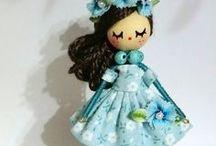 Doll necklace/Collar de muñeca / https://www.facebook.com/B.delafelicidad