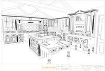 autokitchen plan elevations / On this board you will find that we are not just pretty pictures. industrial level autocad drawings are possible due to the powerful Autodesk OEM engine that the software is ran on.