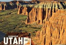 2015 Calendar of Utah Geology / Highlights of Utah's breathtaking geology compiled into a calendar to be seen throughout the year. The photos are taken by staff members who are often on assignment in some of the most intriguing areas of the state.