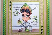Other Simply Betty Stamps / Cards made with stamps from Simply Betty Stamps.