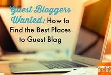 Guest Blogging Tips and Tools for Bloggers and Business Owners / Get the best guest blogging resources, tips and tools to make this secret superpower your best marketing tool!