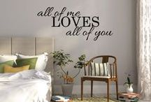 Fixate on Etsy / Motivational, inspirational wall sticker decals and quotes. All designs are available for your walls online. Wall decor designs for kitchens, family rooms, bathrooms, bedrooms, including over and above bed decor art.