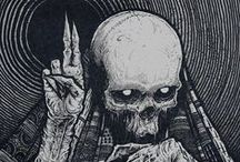 Skulls and bones / death theme