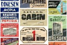 vintage hotel and ship luggage stickers / by Jenny Brewer