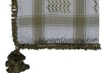 Muslim Keffiyeh / Shemaghs / Kufiyya / Now featuring different colors of the cotton Palestinian-style  Arafat scarves/kefiyyeh shemagh (worn by Muslims in  several Arab countries especially Palestine).