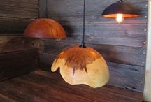 Lampshades / Something we have had kicking around our homes for awhile... here's a sample of what they look like - hopefully they'll be heading to your homes soon, too! #lampshades #lights #wood #lighting #lamp #handmade #lightyourhome #rustic http://on.fb.me/1x1z2fb