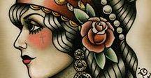 Gypsy / a cigana oldschool, simboliza sorte e a harmonia entre os elementos terra, fogo e ar. Lindas e intemporais, quero uma!