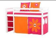 Flower Power Children Beds / A Beautiful Universe for Your Childrens Bedroom. Children Furniture e.g. with Bunk bed, Mid high bed, Half high bed, High bed, Conopy bed and Sofabed made in the Highest Quality from Hoppekids.