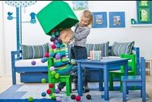 MyColor Children Furniture / A Colorful Universe for you Childrens Bedroom with e.g. Sofabed, Half high bed, Mid high bed, Conopy bed, Bunk bed, High bed, Drawer, Chair, Table, Safety Rail and Shelf,