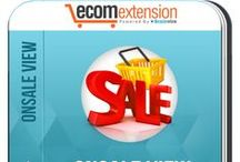 Magento OnSale View Extension / OnSale View Extension helps you attract the potential customers with visually appealing graphical labels about special offers over the specific products.