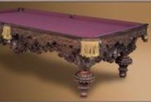 Showpiece Pool Tables / These pool tables are the pinnacle of perfection.  Exquisite designer furniture pieces that are meant to be instant heirlooms.  Rather than blending into their surroundings, furniture works of art become the focal point of any room