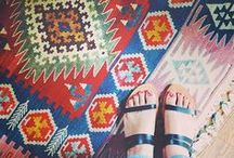 Southwestern and Killim Pattern / This is a collection of all things Kilim and Southwestern that I absolutely love. Be it on a rug, throw pillows or even furniture pieces.