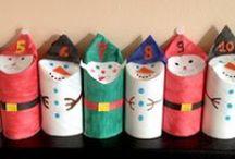 Un jour un calendrier de l'avent / Des idées de calendriers de l'avent à réaliser avec les enfants (ou pas) pour préparer Noël #calendrierdelavent #noël #diy #craft