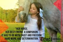 #HerHorse Quotes / There is something about a bond between a girl and her horse.