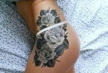 TATTOO / Tattoo inspiration, little tattoos, small tattoos, small tattoo, women, girls, flowers, birds, feathers, feather, summer, colorful, shadows, tattoo ideas.