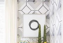 Accent Wall Ideas / Create stunning DIY Accent and Feature Walls with these budget friendly ideas. Make beautiful feature walls in your home.
