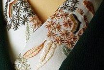 手刺繍半襟 Kimono collar / #japan #kimono #手刺繍半襟 #kimonocollar #art #traditional