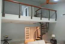 Spiral Modern Metal Stairs / Metal spiral stairs are very decorative. Metal Spiral Staircase design is functional and space saving solution for small home interiors. It is a striking architectural element that add an interesting accent and glamorous look to modern interior design. / by Keuka Studios