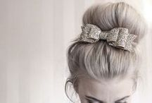 Bridal Hair Inspiration / Inspiration board for bridal hair - find lots of creative hair ideas for your big day - pick up some tips for your bridesmaids hair too!