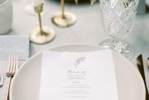 Wedding Table Settings / Inspiration board for wedding table settings - find some great ideas for setting your tables!