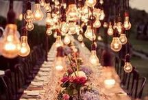 Light Inspirations / Inspiration board for wedding light and lights - find great ideas for introducing light and lights to your wedding day!