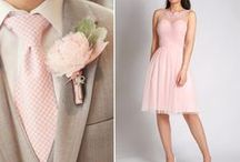 The Look: Pinks / Inspiration board for a pink colour scheme - find great ideas for a perfectly pink wedding!