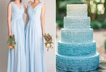The Look: Blues, Teals, & Turquoises / Inspiration board for a blue colour scheme - find stunning ideas for a beautifully blue wedding!