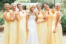 The Look: Yellows & Golds / Inspiration board for a yellow or gold colour scheme - find beautiful ideas for a gorgeously golden wedding!
