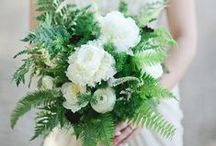Flowers: Foliage / Inspiration board for the flowers at your wedding, featuring foliage - some great ideas for a bouquet to remember!