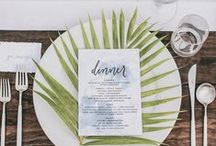 Trend: Tropical / Inspiration board for a tropical wedding - get some great ideas for this fun theme to make your perfect day!