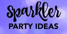 Sparkler Party Ideas / Ideas and inspiration for a sparkler-themed event.