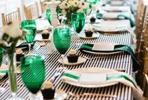 The Look: Greens / Inspiration board for a green colour scheme - find great ideas for a great green wedding!