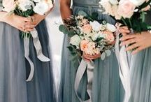 The Look: Greys & Silver / Inspiration board for a grey or silver colour scheme - add a touch of sparkle to your wedding!