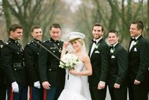 {Military Wedding Ideas} / For all the couples out there that support our stars and strips we have put together an inspiration board to help you create the wedding of your dreams! Thank you for your service to our country!