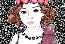 Marimeri /                                  Sweetness and colour                          *illustrations made for girly girls*