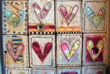 2016:2 Hearts / On the PaperArtsy Blog from Jan 17th to Jan 31st the Topic is Hearts. Obviously this is great for valentines-themed ideas, but hears are a great topic year round, and often used in mixed media works as they are so easy to draw and communicate a strong message. Come along and join our challenge or read more about it here on the introductory blog post. http://blog.paperartsy.co.uk/2016/01/2016-topic-2-hearts-challenge.html