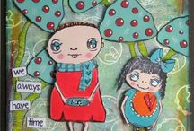PA- Darcy stamps / Darcy Wilkinson designs funky stamps for PaperArtsy. Check out her martian underwater flowers for 2015!