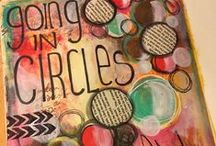 2015:16 Circles / 23 August - 6 September we are going round in circles on the PaperArtsy Blog.  This is a perfect theme to explore in your journalling! Jump in and add colour to your spots!