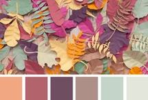 Colour - Autumnal / My least fave colours but I am trying to find palettes i can work with somehow, or perhaps may inspire me the most.