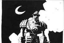"Mike Mignola (1960-present) / Michael Joseph ""Mike"" Mignola is an American comic book artist and writer who created the comic book series Hellboy for Dark Horse Comics."