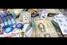 PaperArtsy New Product Videos / Introductions to new products by PaperArtsy: Stamp collections by Designer with samples, paints and more.