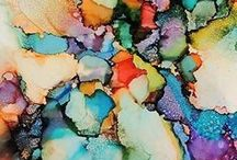 2016:22 Alcohol Inks / Alcohol Ink, pens etc offer vibrant colour with an intense translucency.